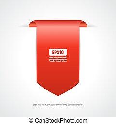 Red tag ribbon