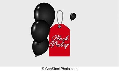 red tag sale black friday dark shiny balloons black friday...