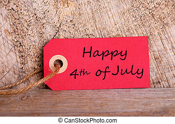 Red Tag with Happy 4th ofJjuly