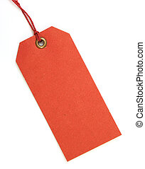 red tag with red thread