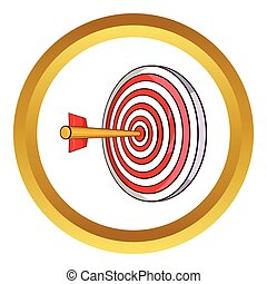 Red target and dart vector icon