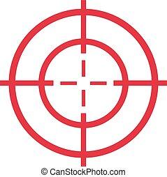 Red target - cross hair