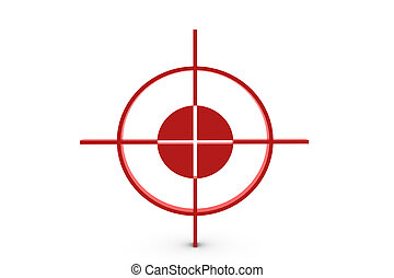 Red target on white background - 3D