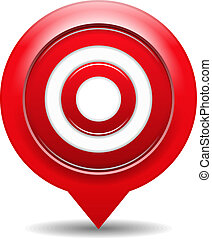 Red target, vector eps10 illustration