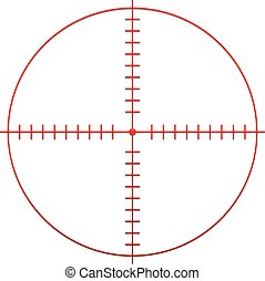 Red Target Mark, Reticle, Cross Hair
