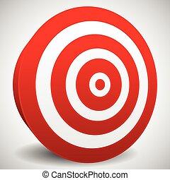 Red target vector icon. Precision, efficiency, effectiveness.
