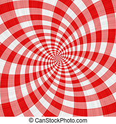 red tartan cloth swirl
