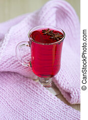 Red Tea (karkade) with a scarf