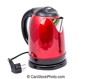 red teapot isolated