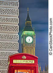 Red telephone at London, England
