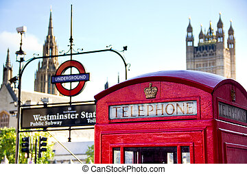 red telephone booth - London, October 2013 - red telephone...