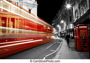 Red Telephone Booth - London Night View