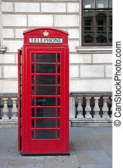 Red Telephone Box, London, Britain, UK