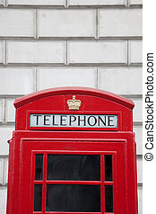 Red Telephone Box, London, England, UK