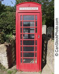 Red Telephone Box - Red phone box in UK