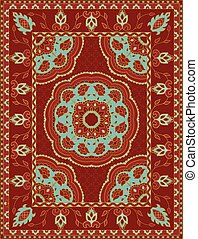 Red template for carpet.
