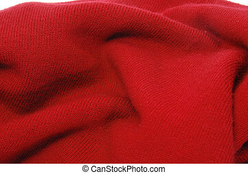 red textile