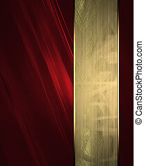 Red texture with gold stripe. Design template
