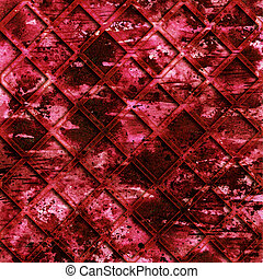 Red texture with grid and shadow