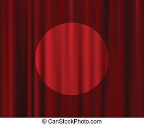 Red Curtains Set Theater Curtain Illustration