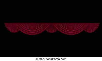 Red theater curtain in theater With alpha channel 4k