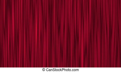 Red Theater Curtain Waving - Red theater curtain, stage...