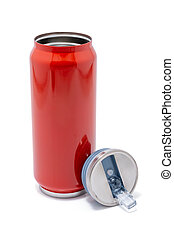 Red thermos bottle opened cap or Stainless steel thermos...