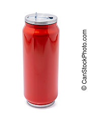 Red thermos bottle or Stainless steel thermos travel...