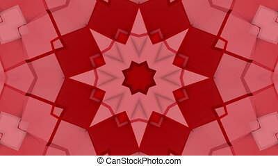 Red three-dimensional kaleidoscope background. abstract . 3d...