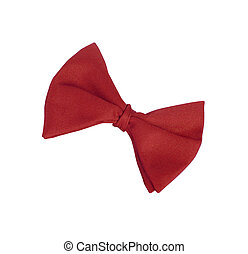 Red tie-bow isolated on white