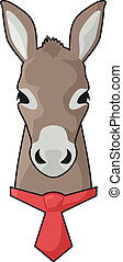 Red tie donkey - Creative design of red tie donkey