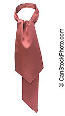 red tie with white dots isolated on white background