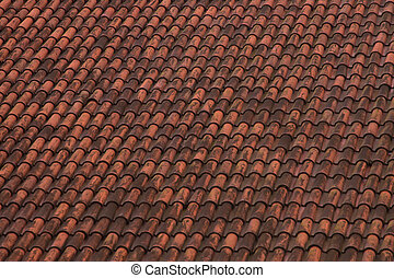 red tile roof texture background