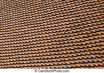 Red tiling, texture - Roof of a house covered with old red ...