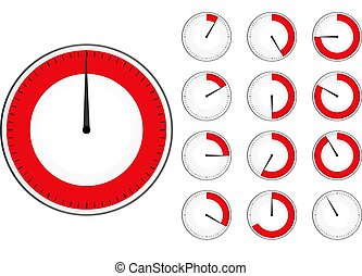 red timers set