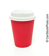 Red to go coffee cup