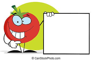 Red Tomato Cartoon Character