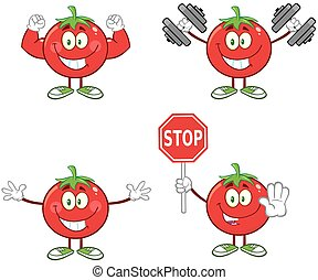 Red Tomato Character 3. Collection