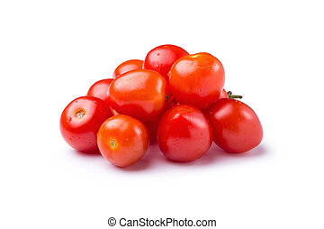 Red Tomato isolated on a white background