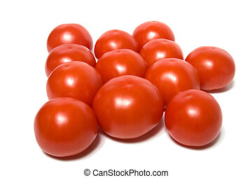 red tomato isolated  on white background