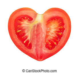 Red tomato - Red tomato in a cut is photographed close-up on...