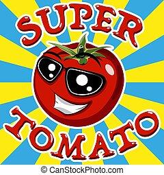 Red tomato. Vector