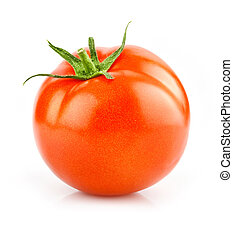 red tomato vegetable isolated on white