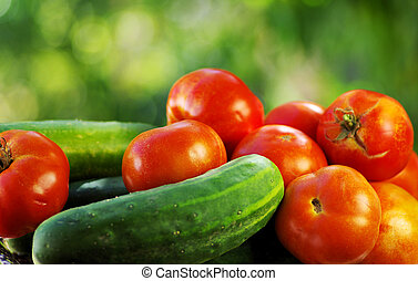 Red tomatoes and pepper