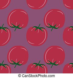 Red tomatoes background. Doodle tomato seamless pattern. Organic healthy vegetable. wallpaper.