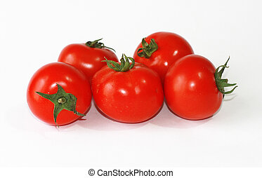 Red Tomatoes isolated
