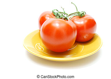 Red Tomatoes on Plate
