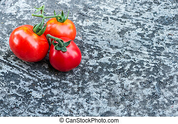 red tomatoes on the ground