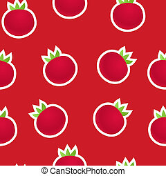 Red tomatoes seamless background