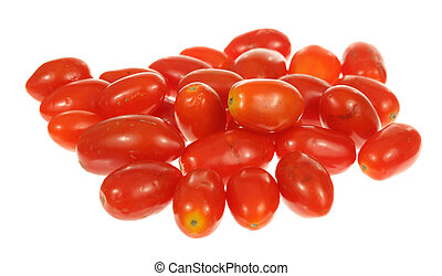 Red Tomatoes - A stock photo of some red tomatoes set...